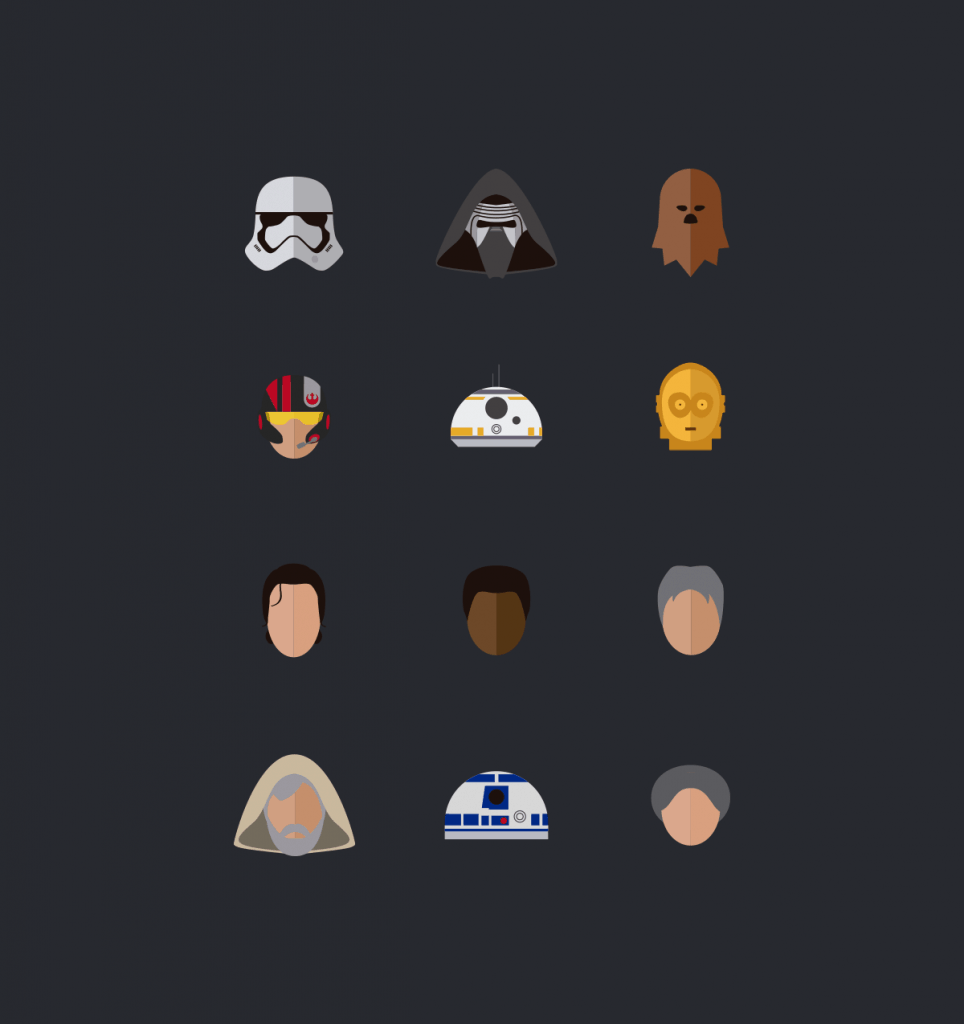 Free Star Wars, The Force Awakens Vector Icons