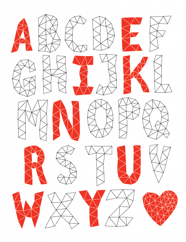 Triangles - Free Polygonal Fonts