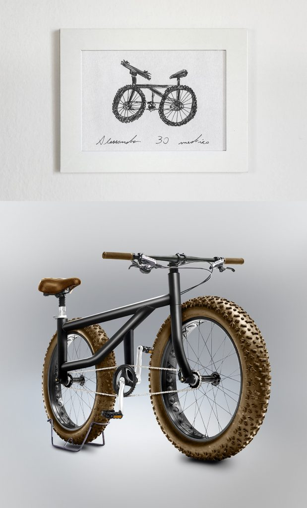 Velocipedia - Bike With Thick Tyres By Gianluca Gimini