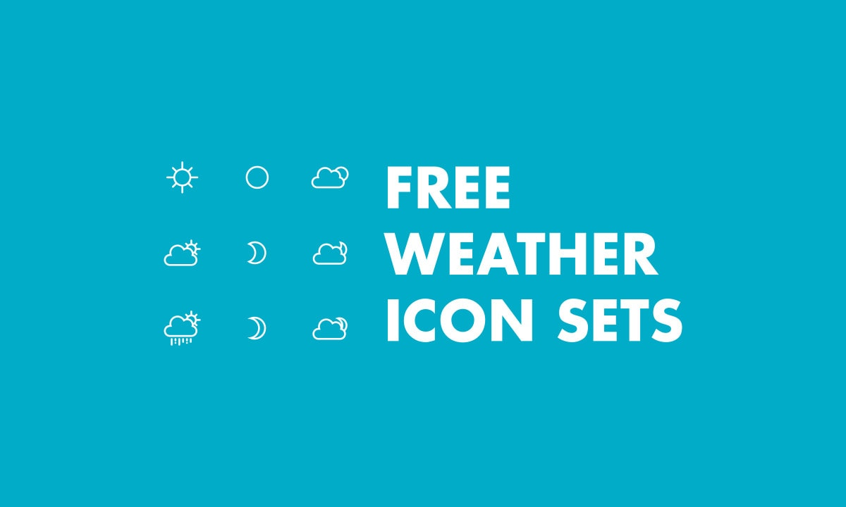 Free Weather Vector Icon Sets