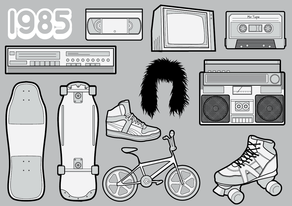 Free 1980s Vector Pack