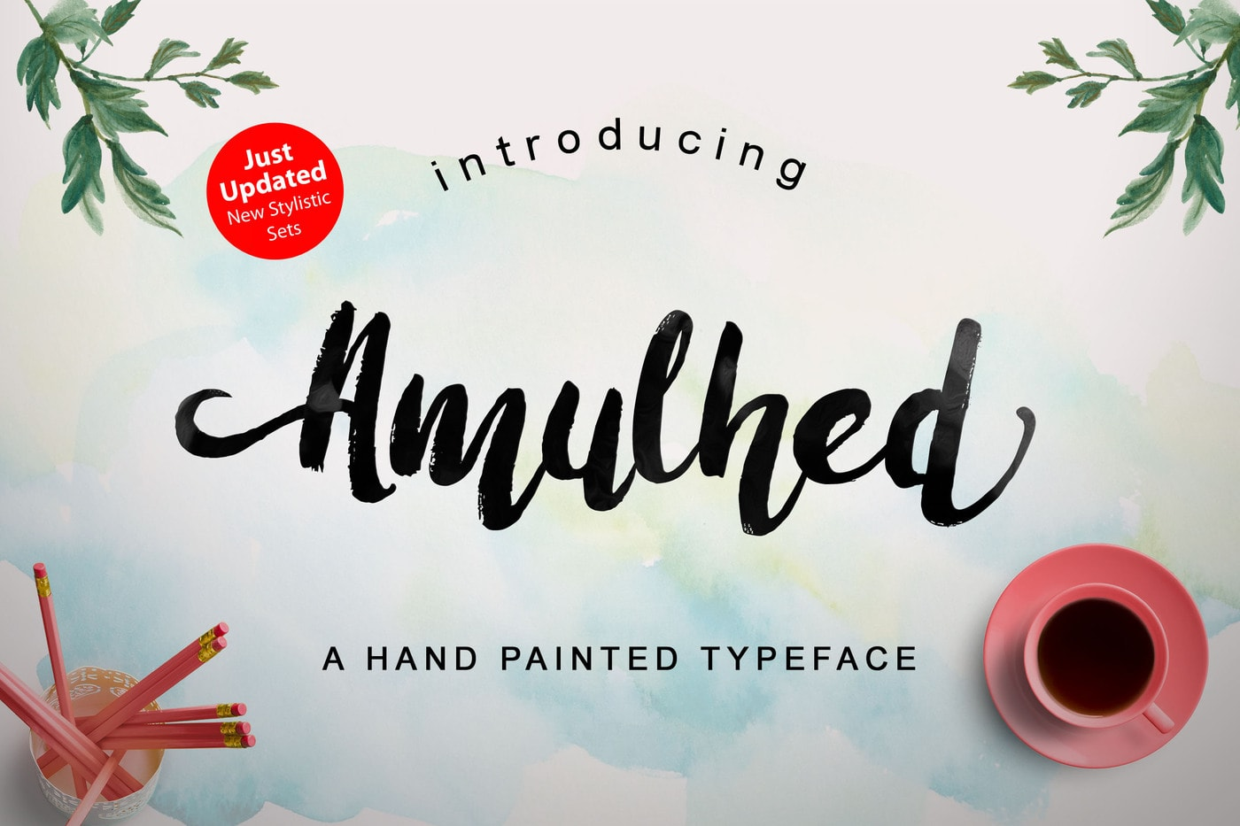 Amulhed - Premium Hand Painted Font
