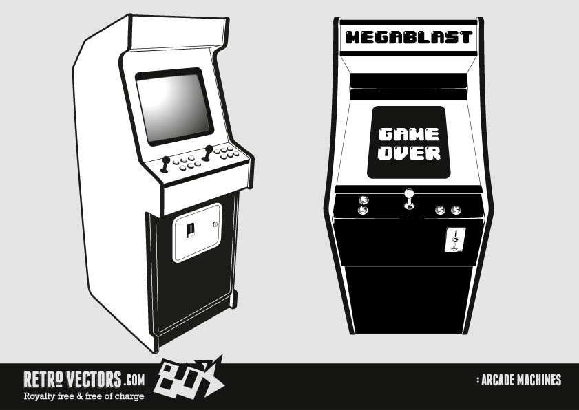 Free 1980s Arcade Machine Vector