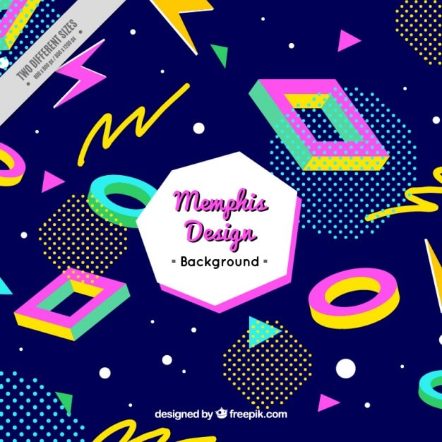 Free 1980s Memphis Style Vector Background