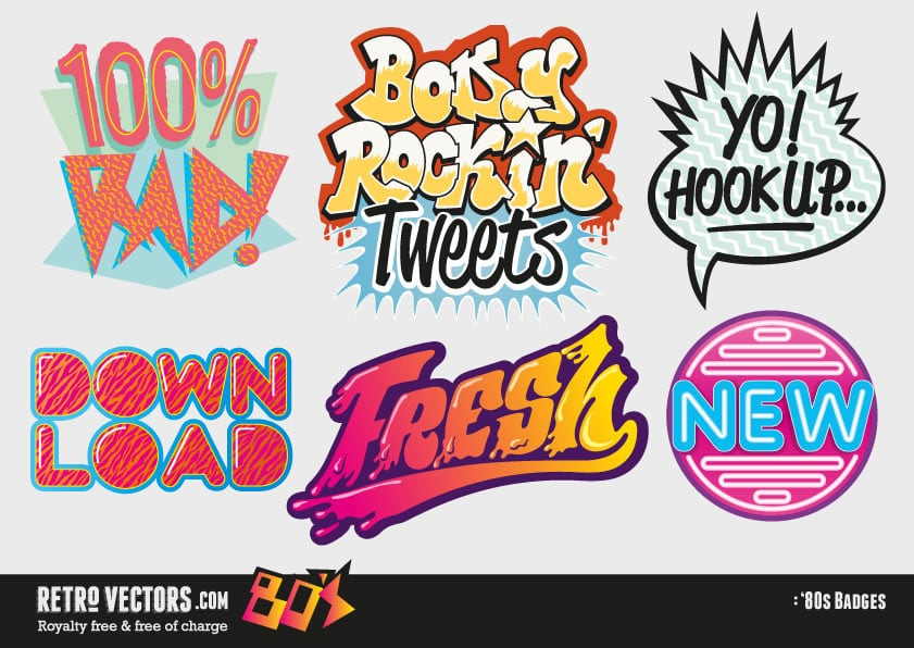 Free 1980s Vector Logo Badges