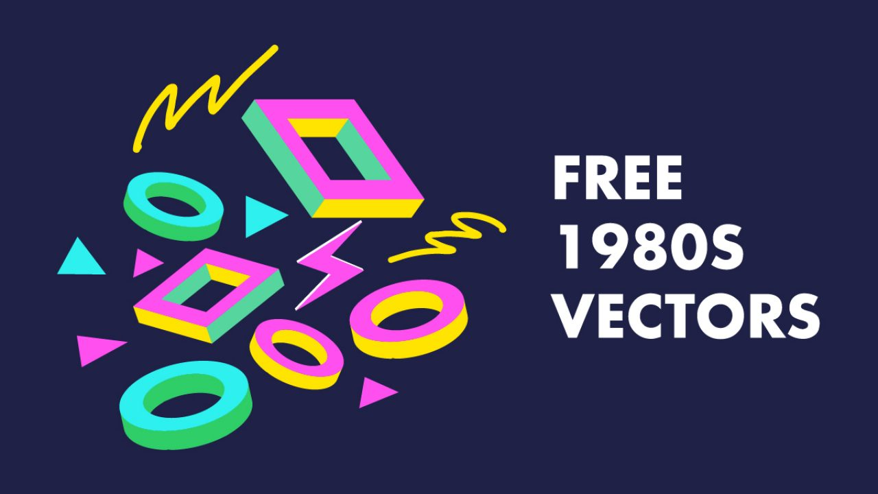 16+ Free 80s Vectors - Patterns, Electronics and People