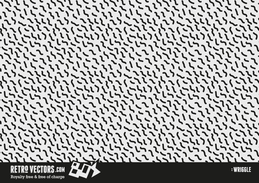 Free 80s Vector - Wriggle Squiggle Repeat Pattern