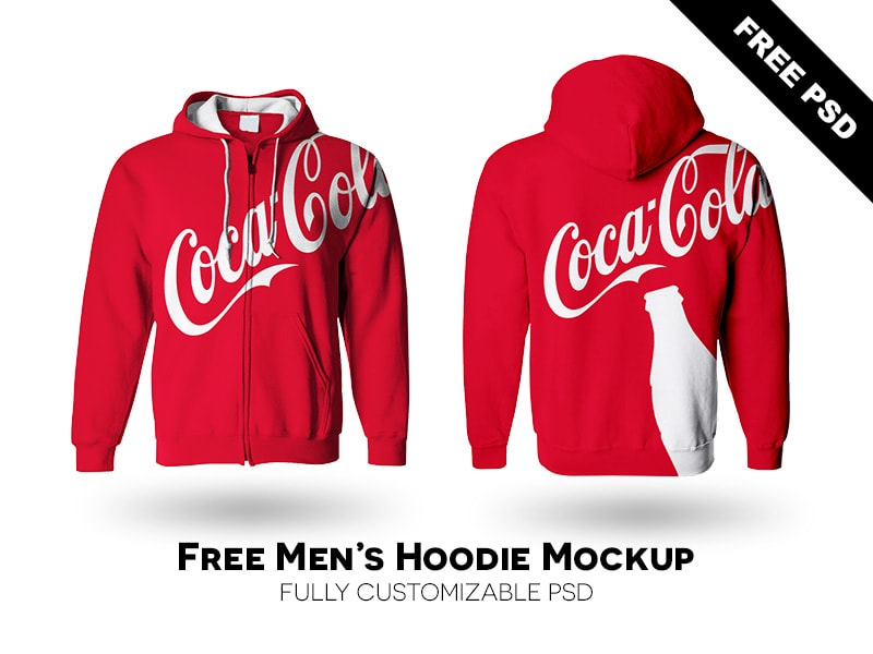 Free Front and Back Mens Hoodie Mockups