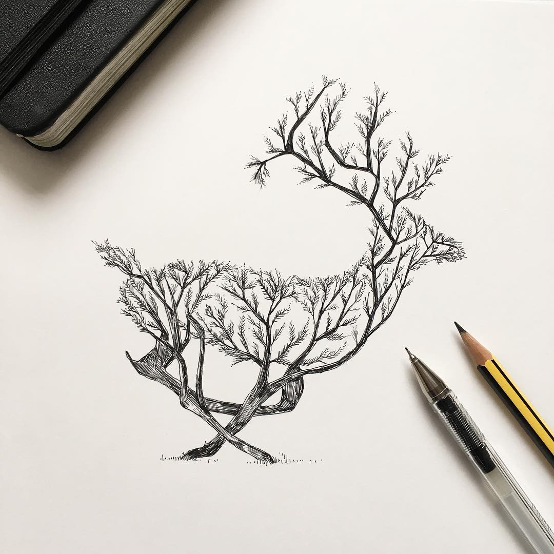Wonderful Ink Illustrations By Alfred Basha