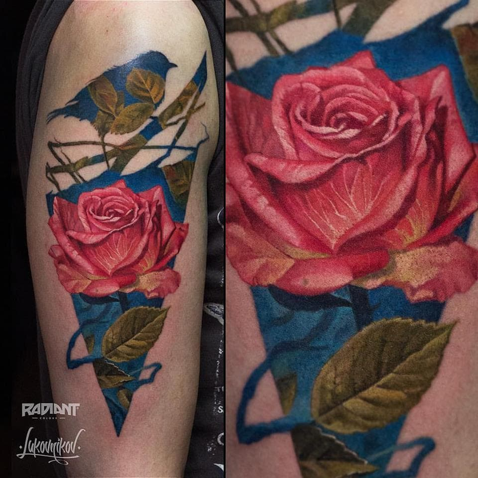 Andrey Lukovnikov - Double Exposure Rose Tattoo