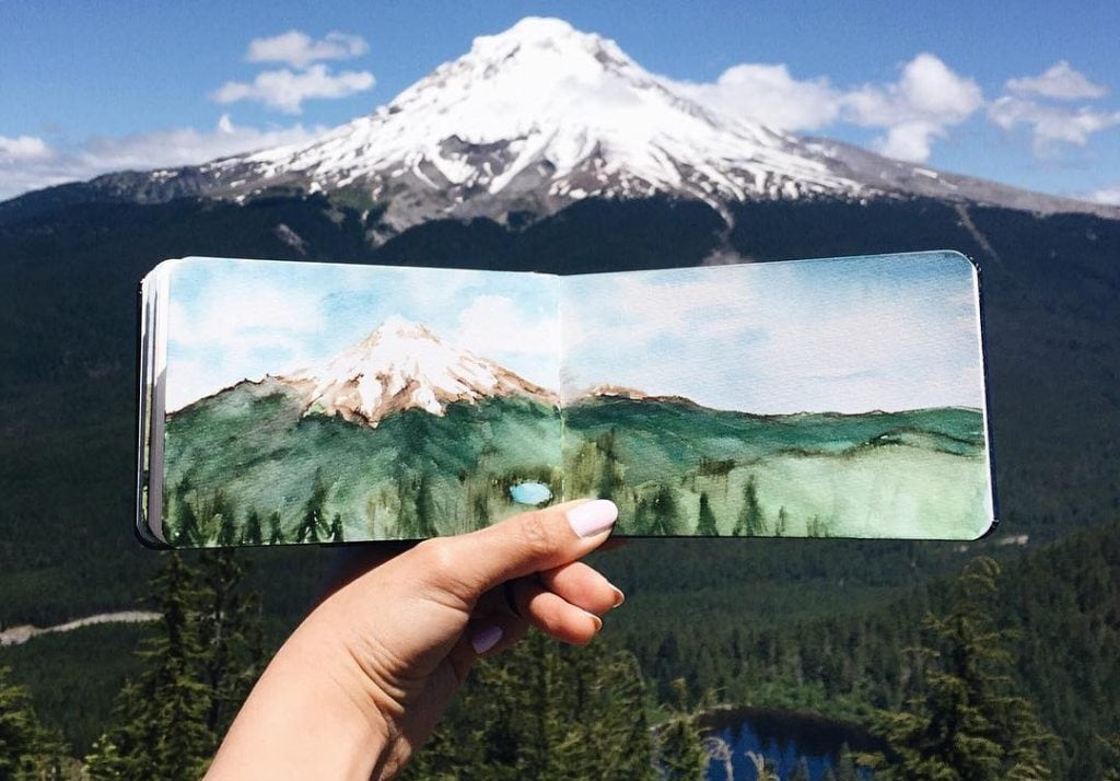 Mountain Watercolour (Cropped) by Hannah Jesus