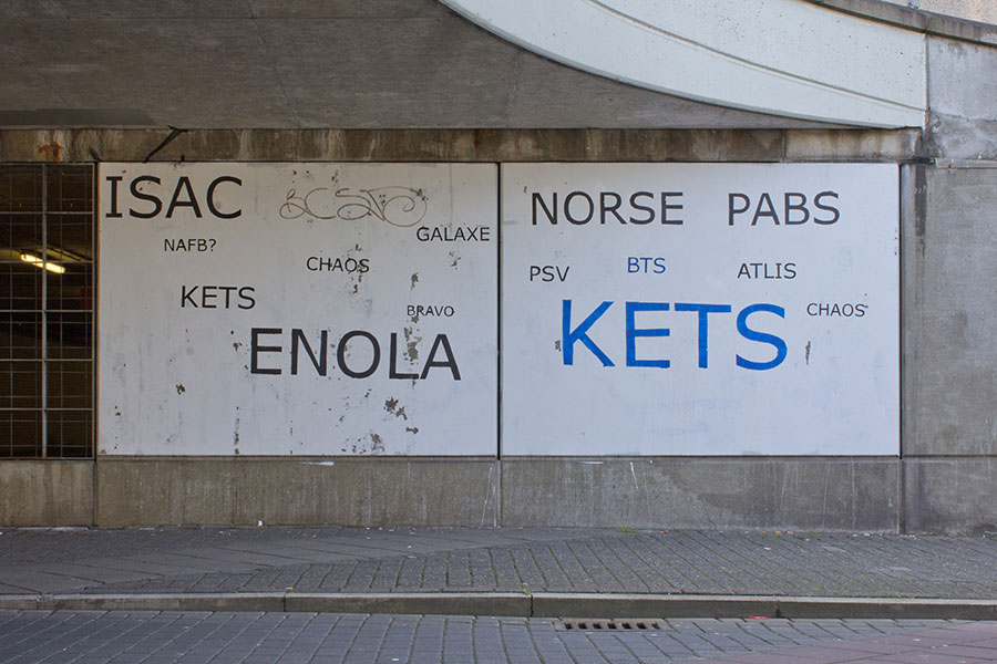 Tag Clouds Graffiti Kruisstraattunnel (After) by Mathieu Tremblin