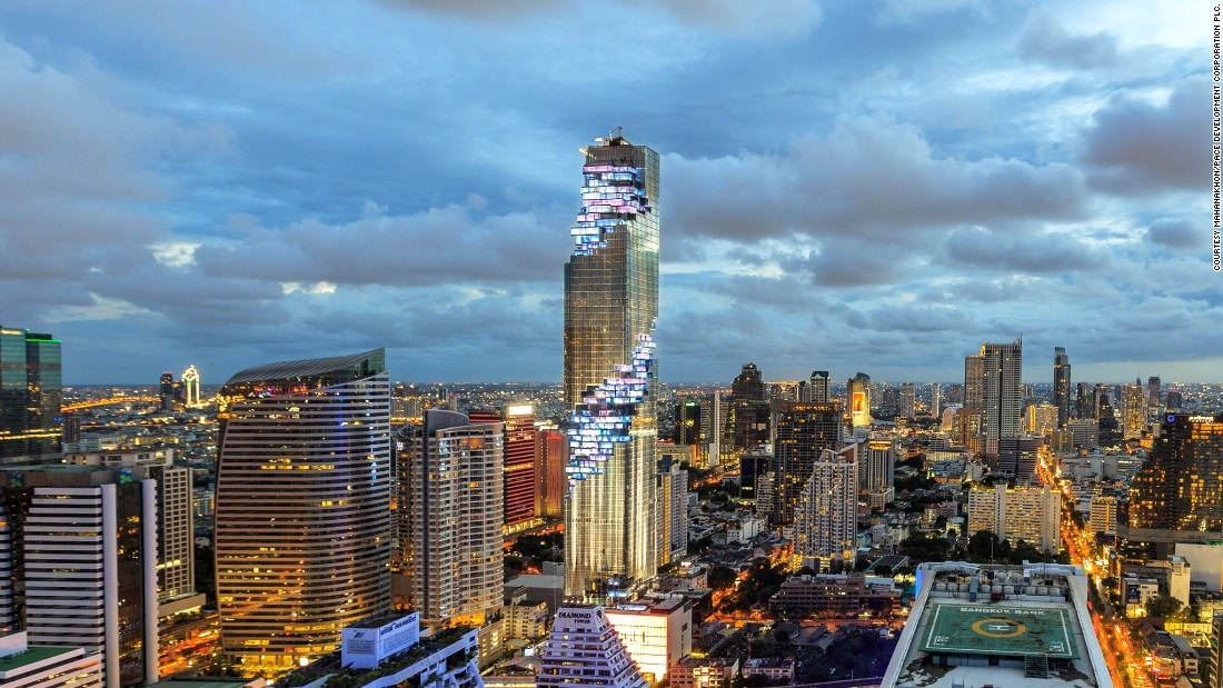 Bangkok, Thailand at Night - MahaNakhon