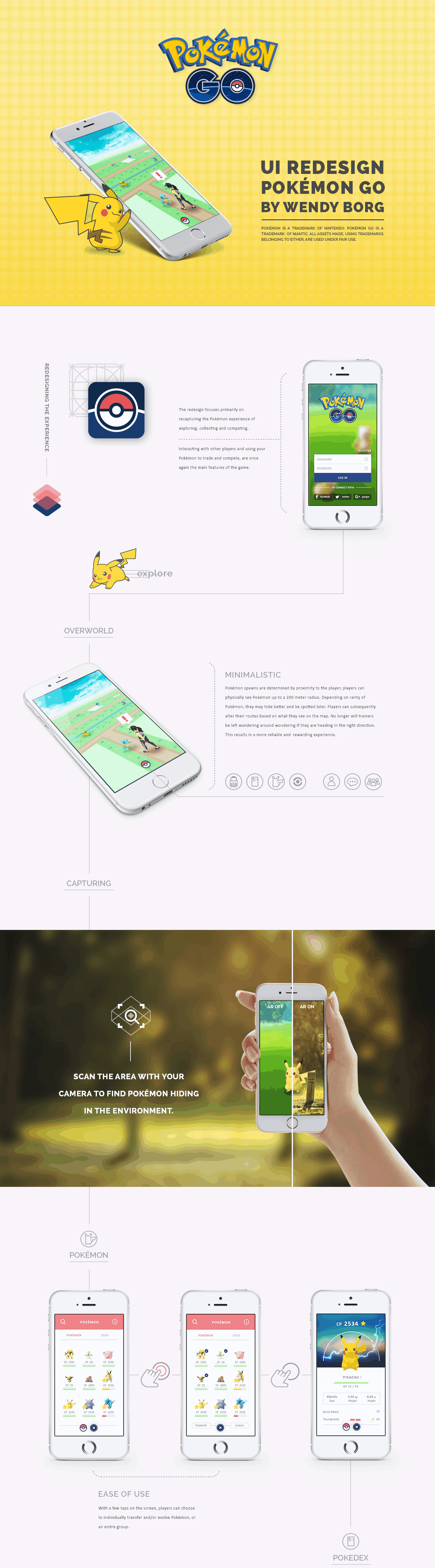 Pokemon GO redesign by Wendy Borg