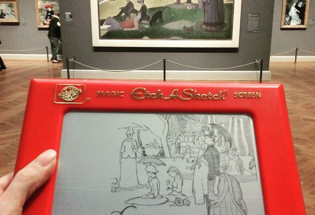 Princess Etch A Sketch - Instagram