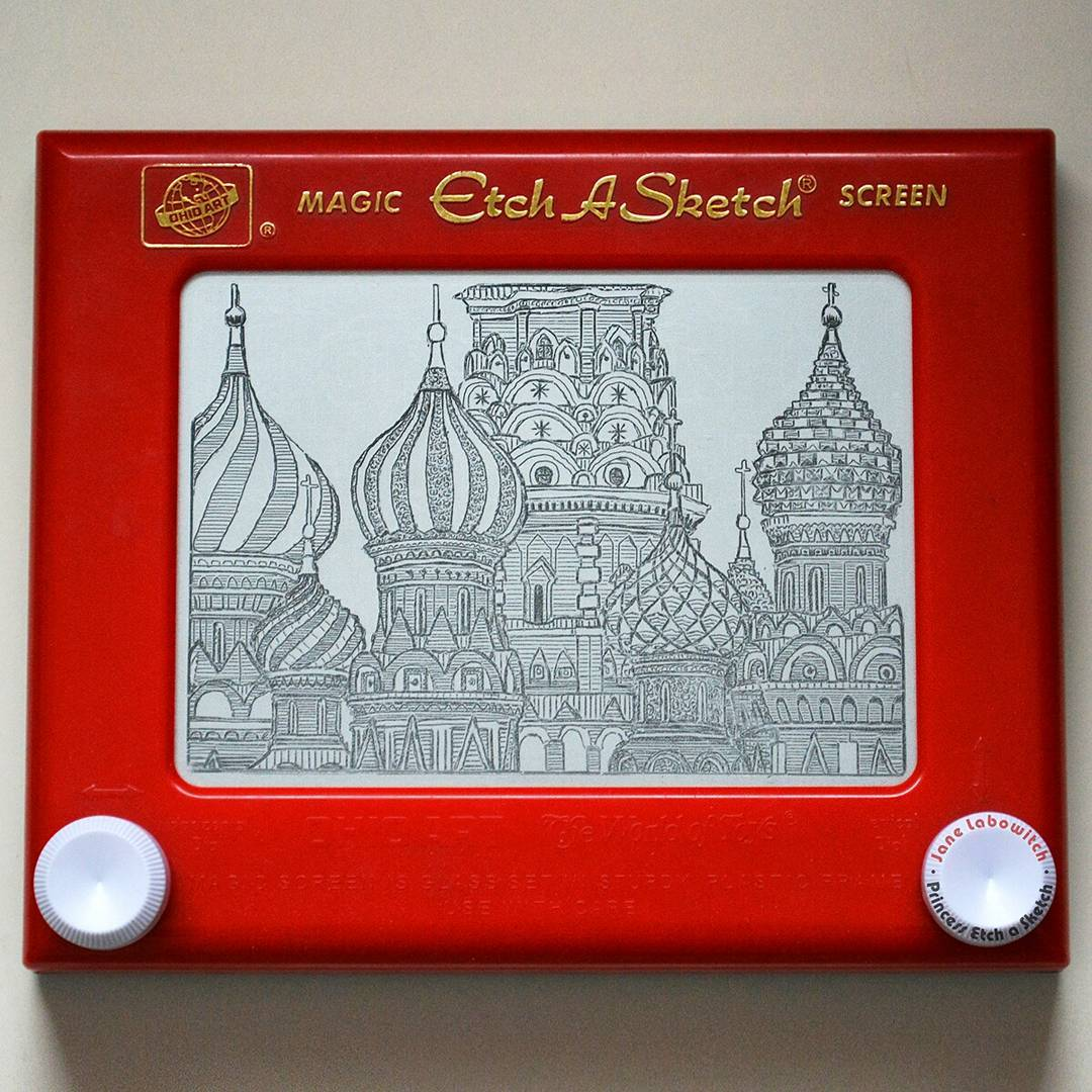 St. Basil's Cathedral by Princess Etch A Sketch
