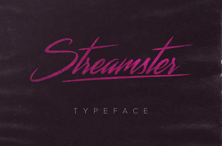 Streamster Free 80s Script Font Hipsthetic