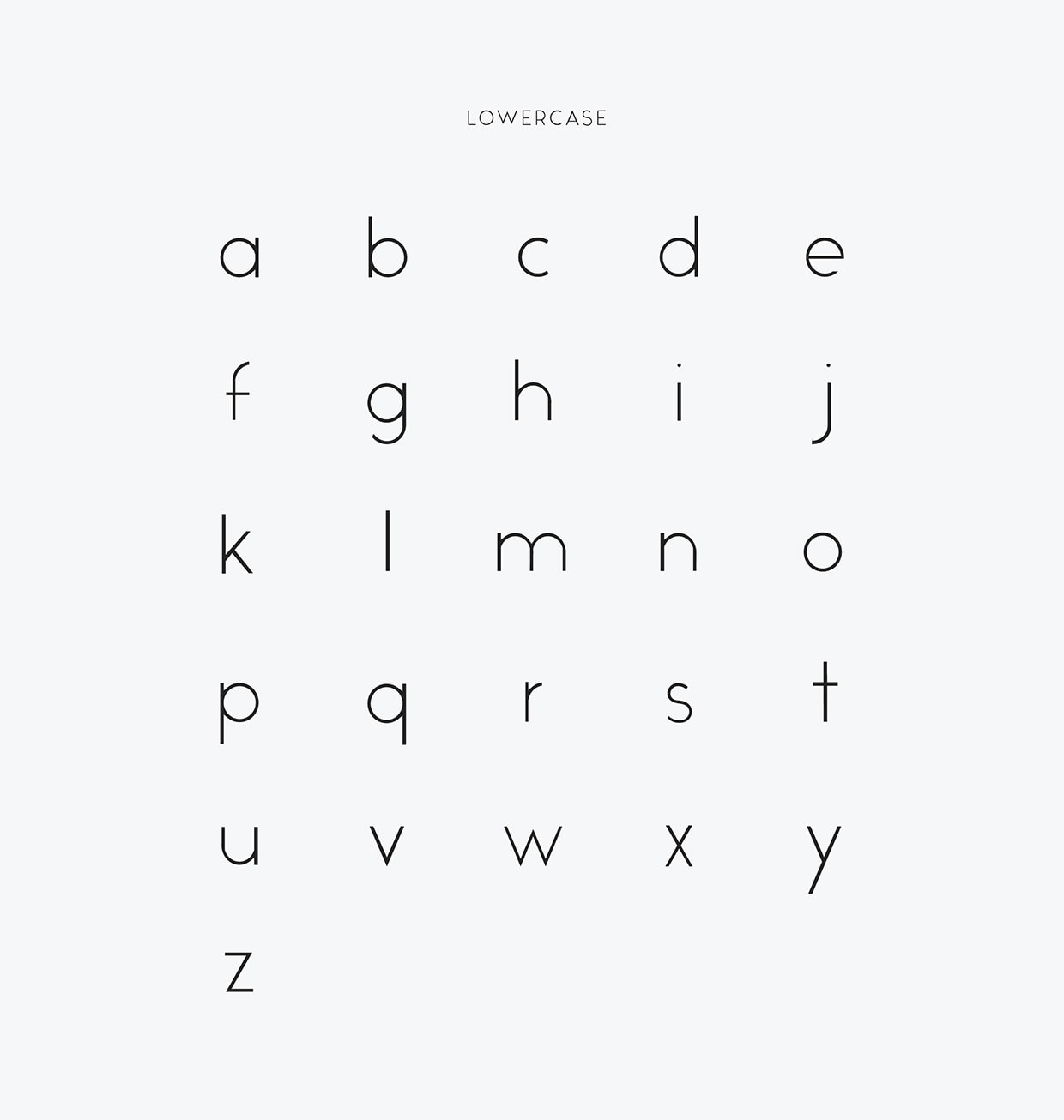 Free Minimal Font Lowercase Characters - Alcubierre