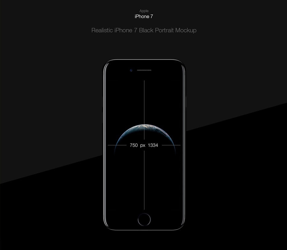 Free PSD Mockup - iPhone 7 Black