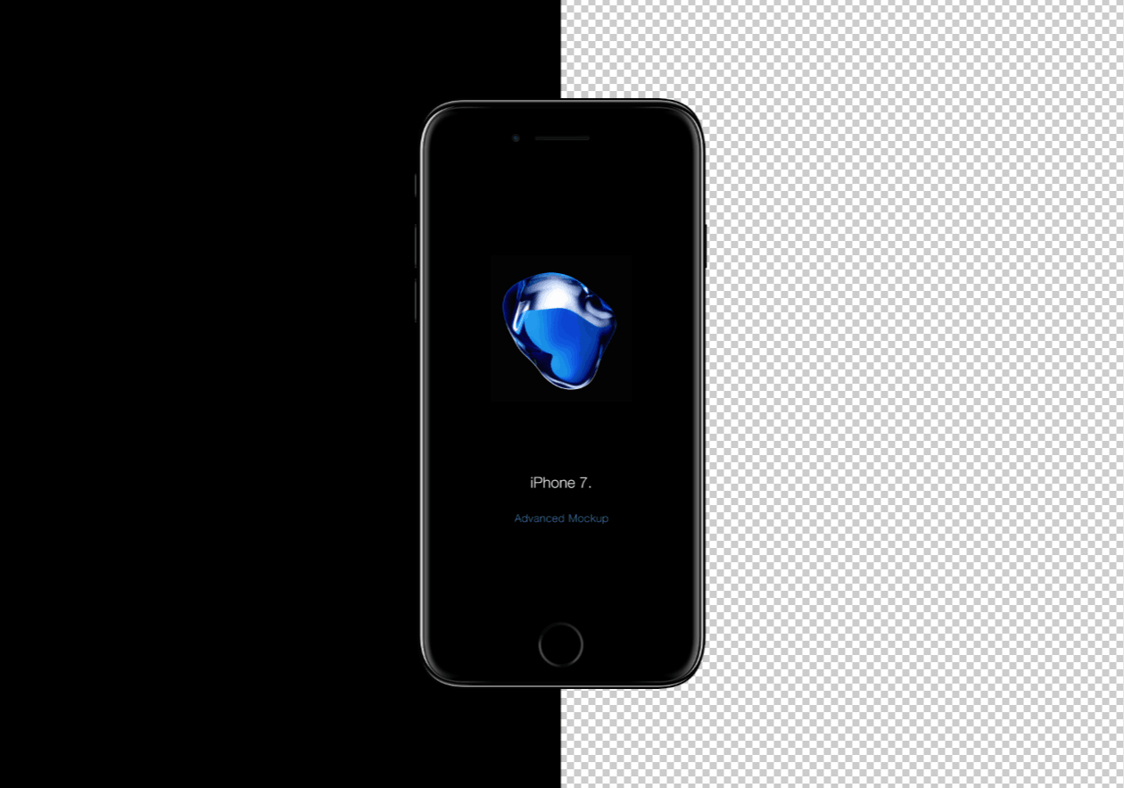 Free iPhone 7 Photoshop Mockup