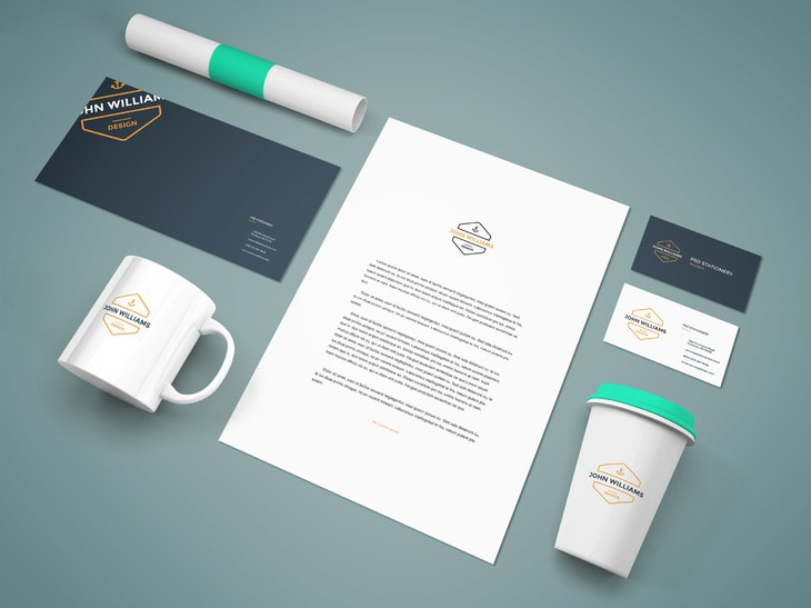 the best 32+ free branding, identity and stationery psd mockups, Powerpoint templates
