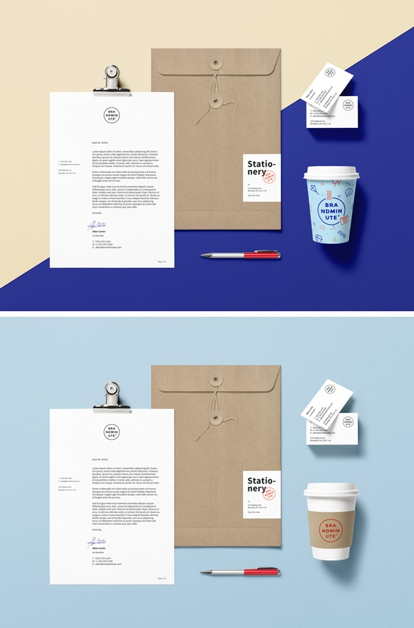 Coffee, Clipboard and Stationery - Free Branding & Identity PSD Mockup