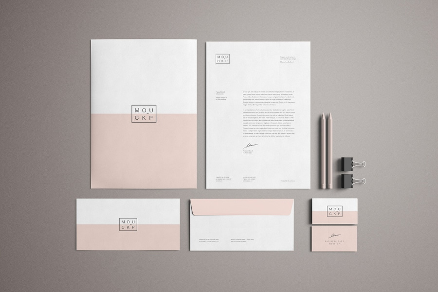 Advanced Branding Stationery Free PSD Mockup