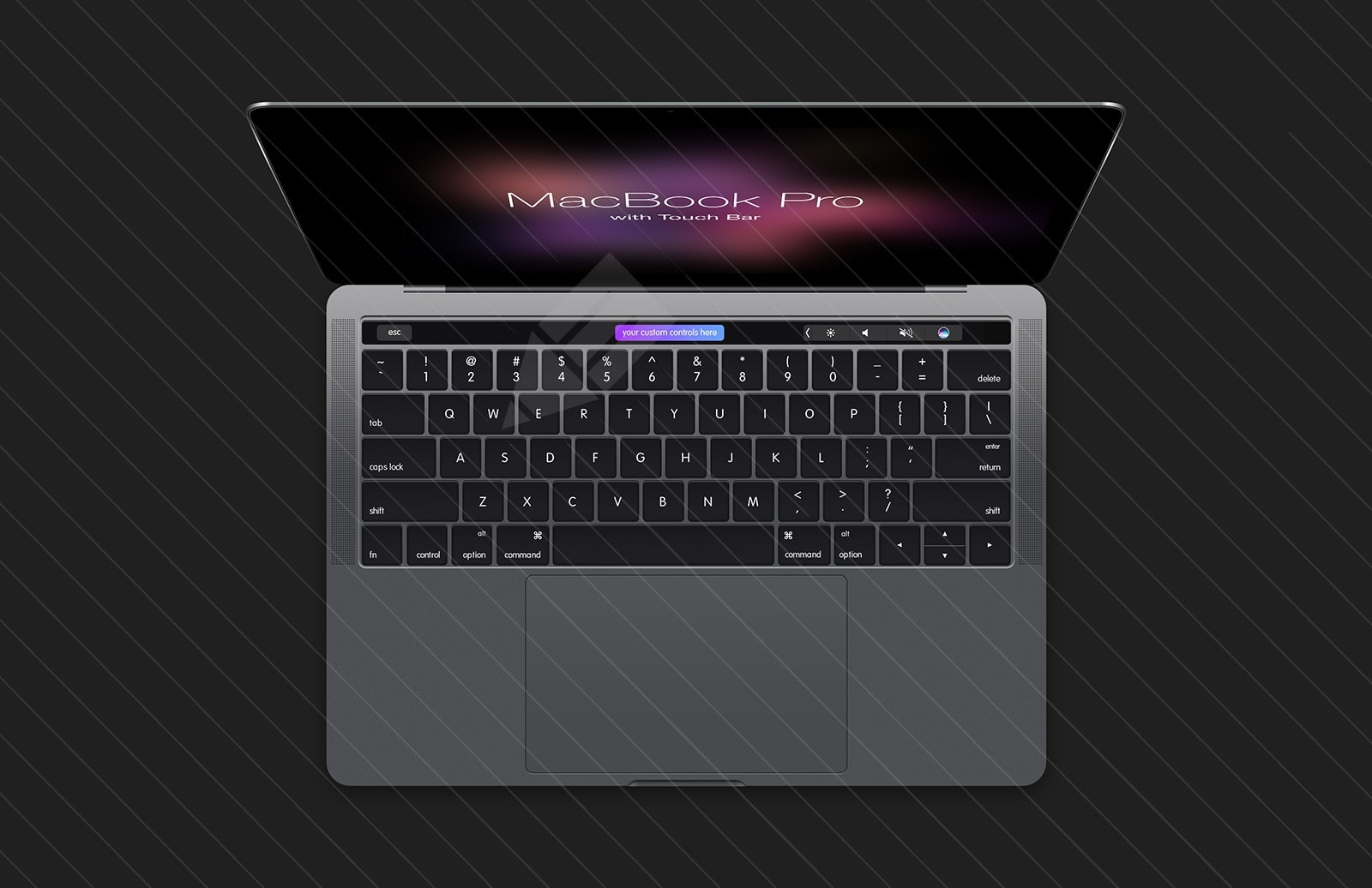 Free MacBook Pro (2016) with Touch Bar PSD Mockup