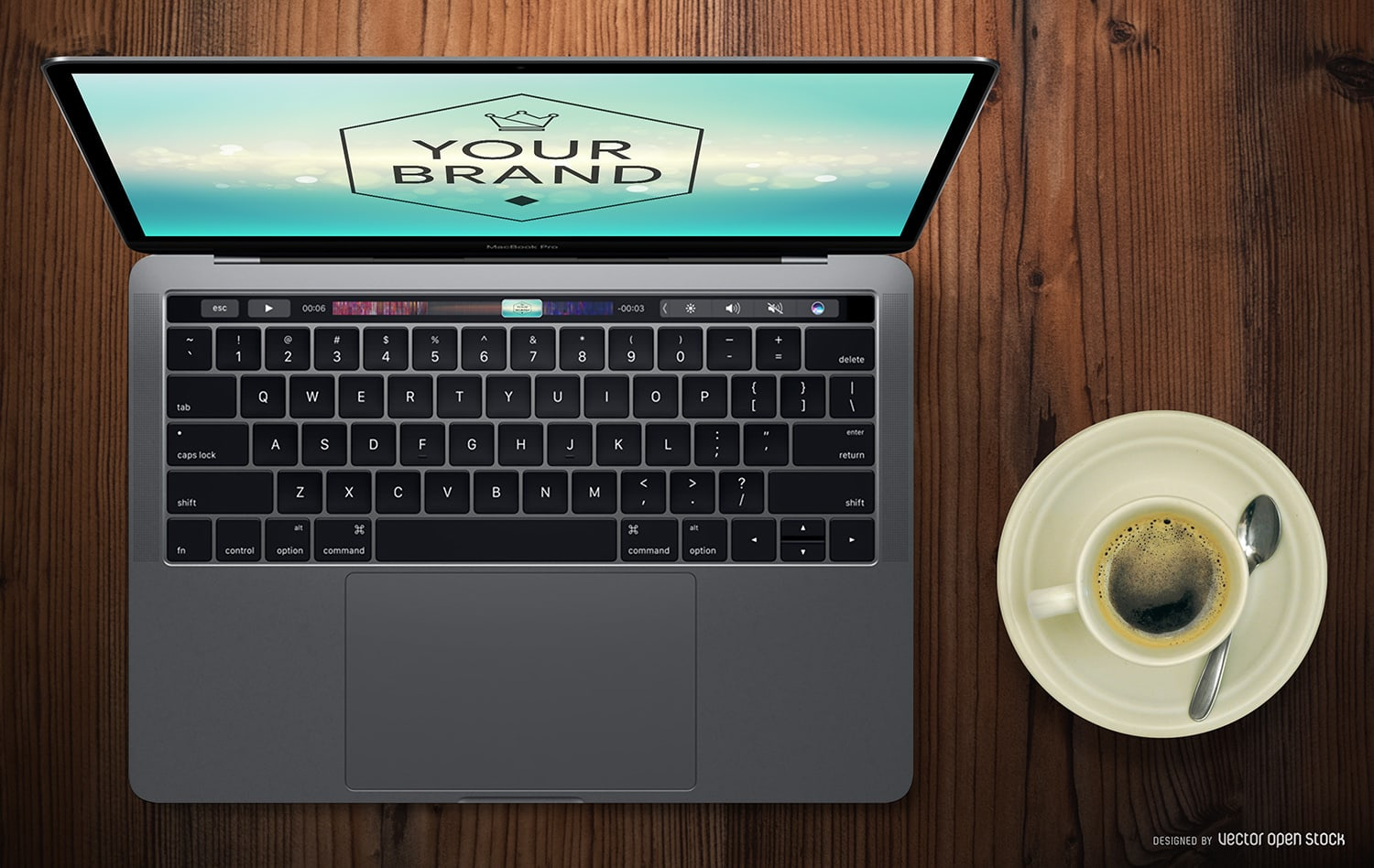 Free Macbook Pro (2016) Touch Bar Mockup