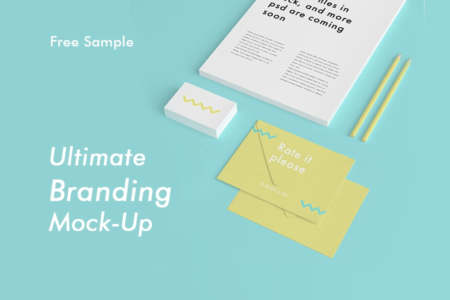 Ultimate Branding Mockup - Free PSD Sample