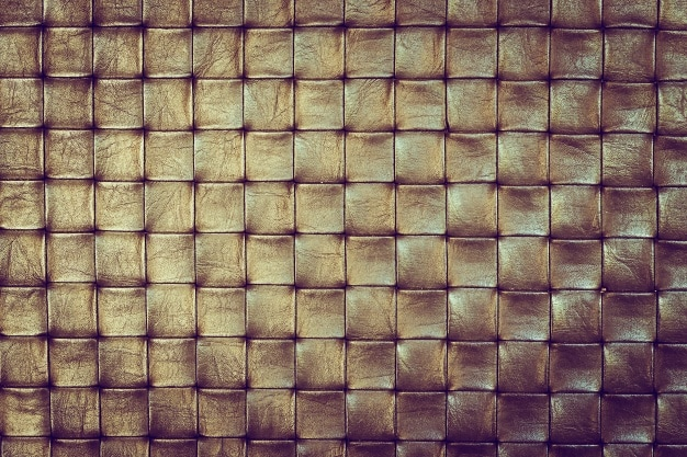 golden squares leather texture
