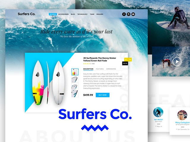surfers-bootstrap-ready-psd-template