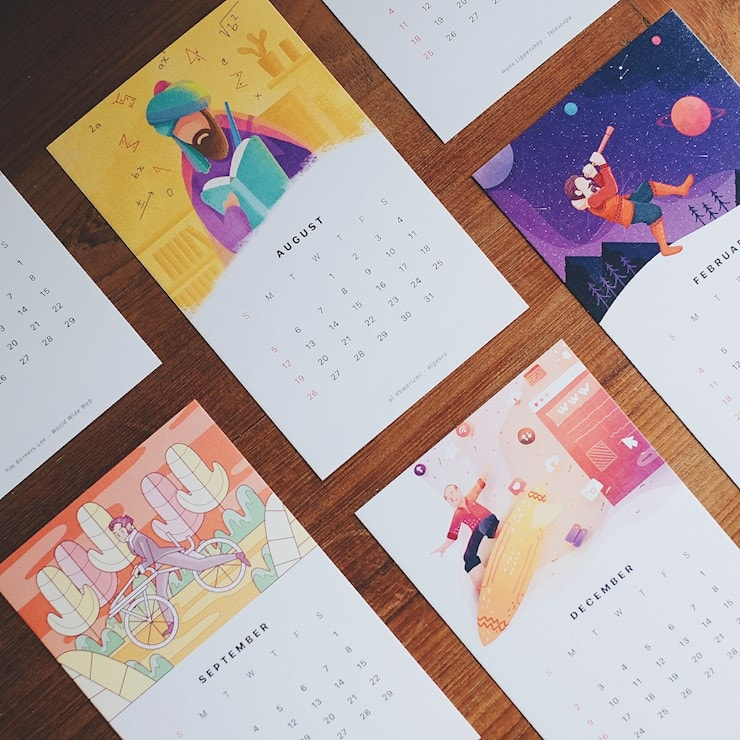 More-Illustrations-for-the-2018-Calendar