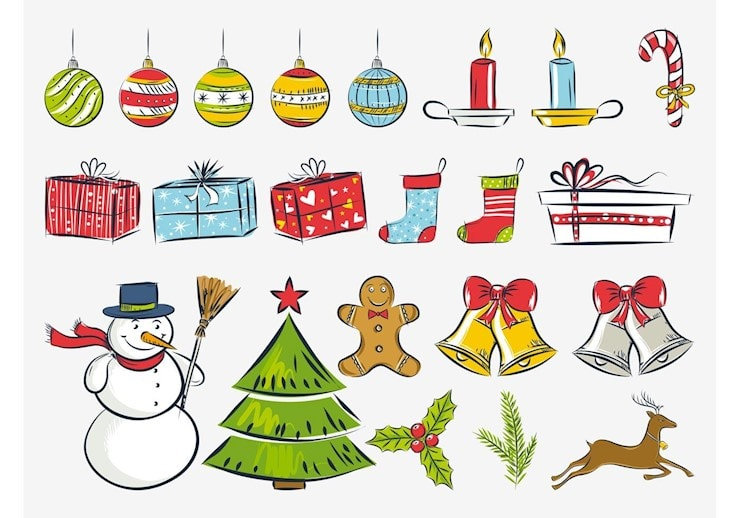 christmas-drawings-vector