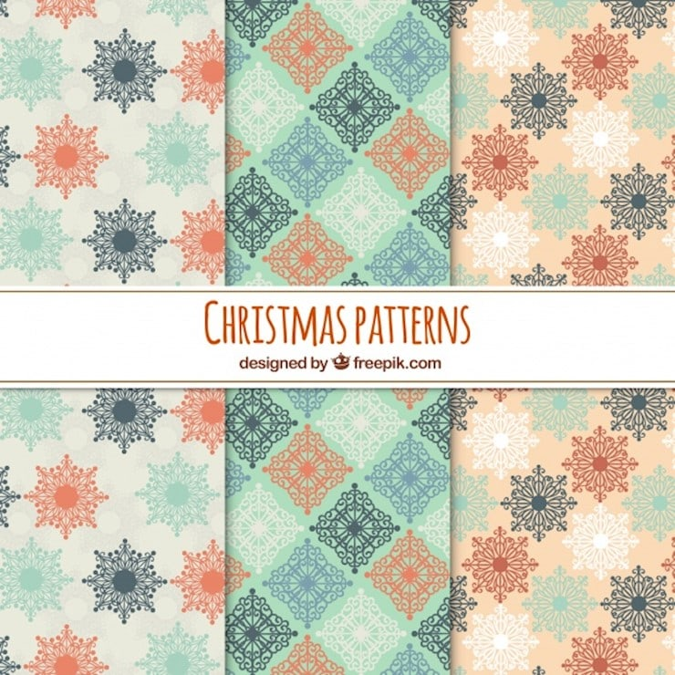 christmas patterns in soft colours