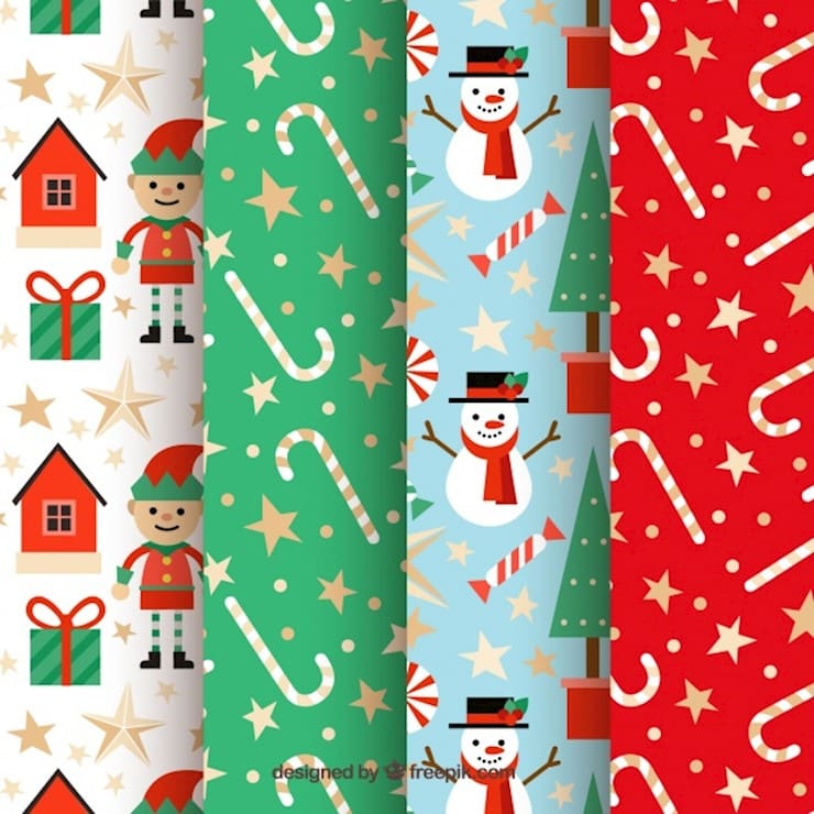 collection of nice christmas patterns