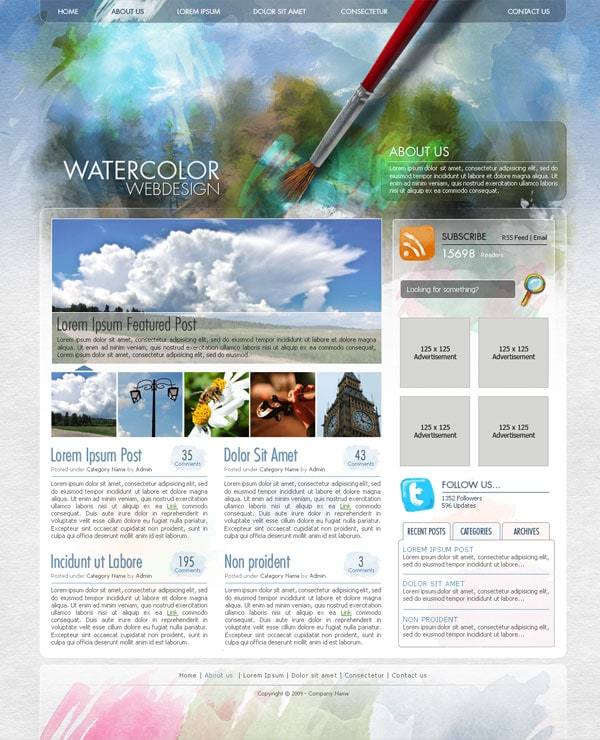 create-a-watercolor-themed-website-design-with-photoshop