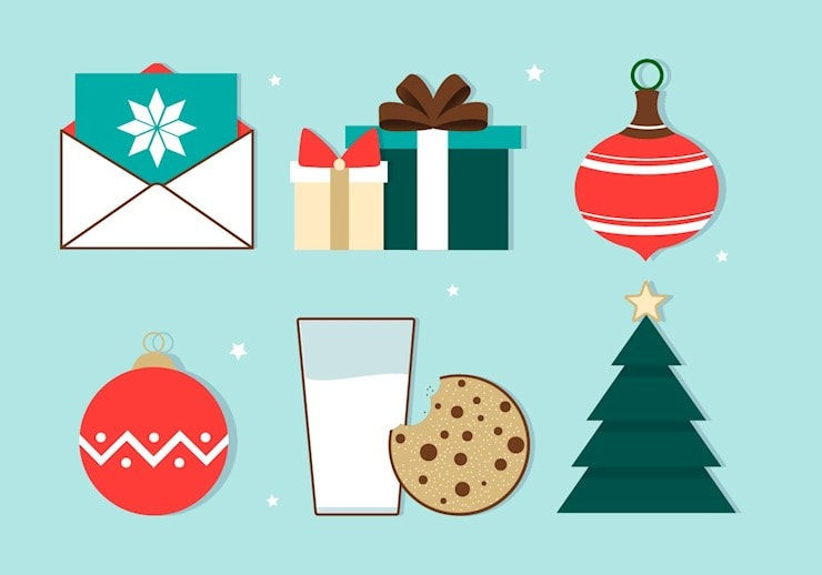 free-christmas-vector-background