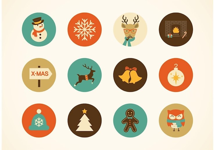 free-hipster-christmas-vector-icons