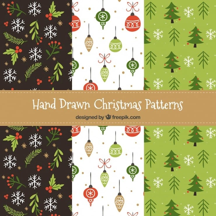 nice christmas patterns set
