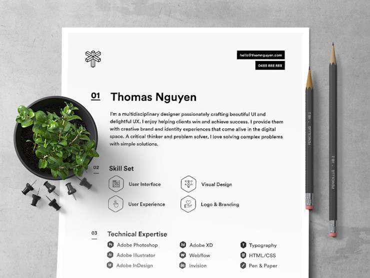 2017 resume dribbble a designs