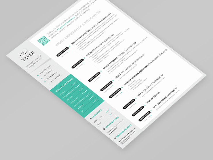 can resume cv mockup designs