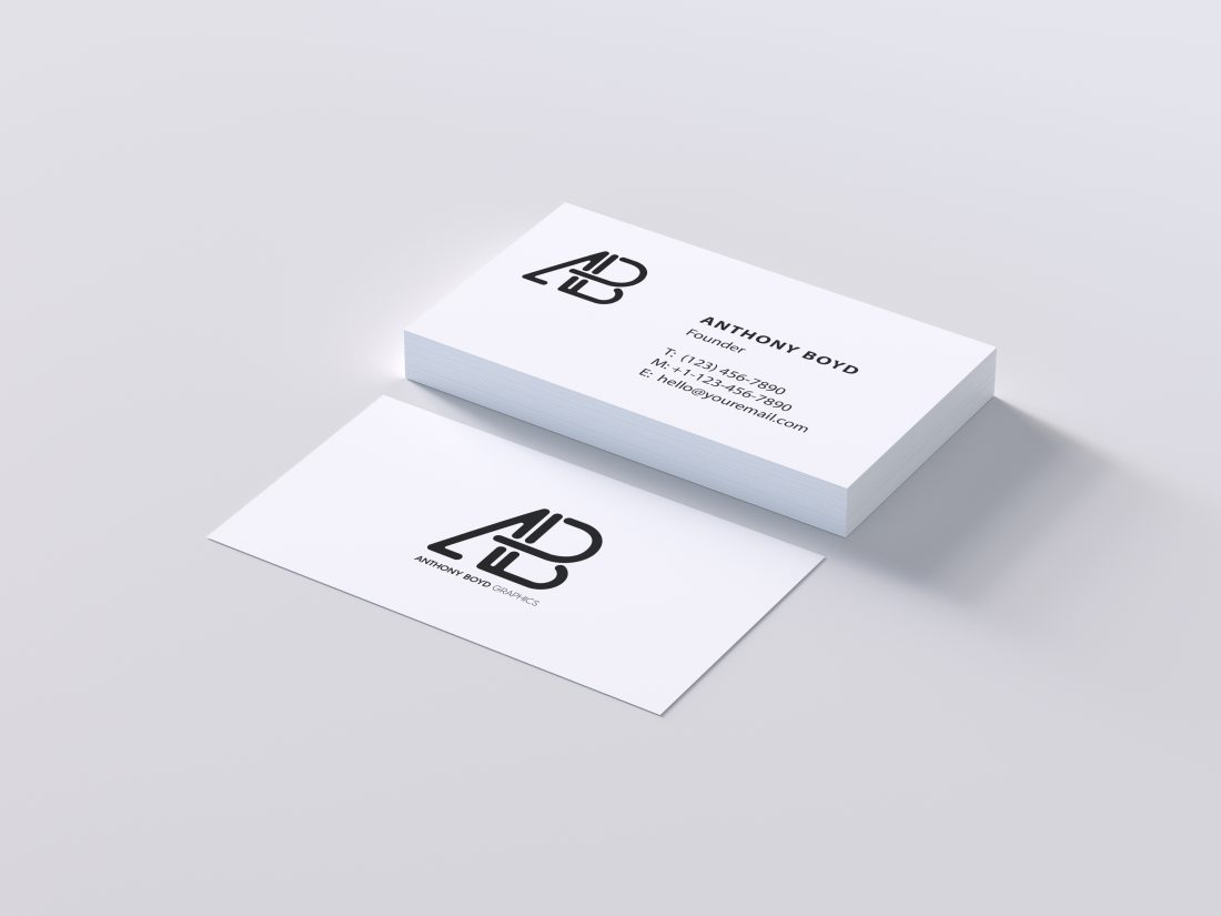 Aesthetic minimal clean business card hipsthetic