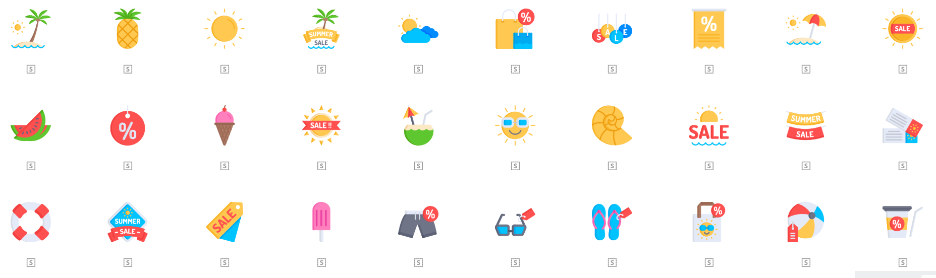 Free Icon Sets for Summer 2018 that will Heat up Your