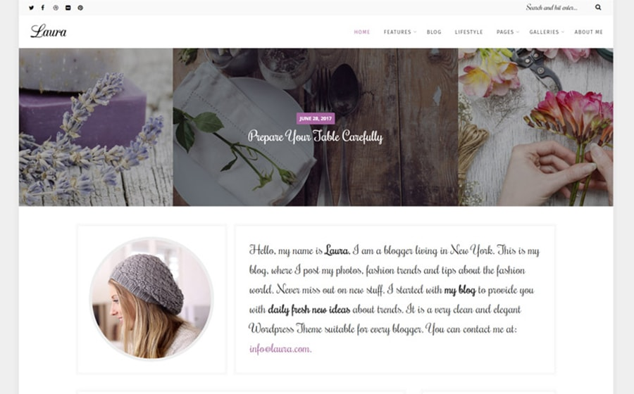Women's Blog WordPress Theme