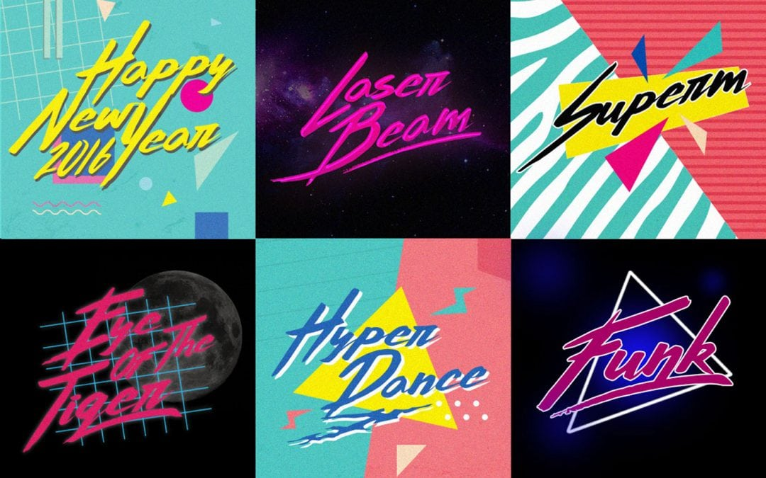 90s Themed Patterns and Fonts to use on Your Next Graphic Design Project