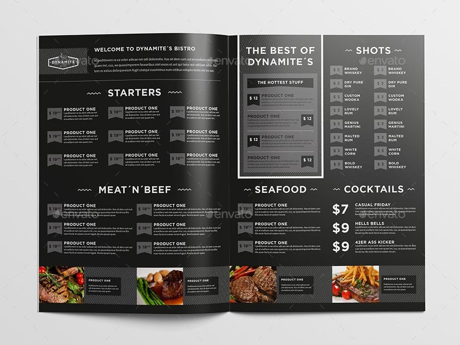 Unique Menu Templates That Will Leave you Hungry for More