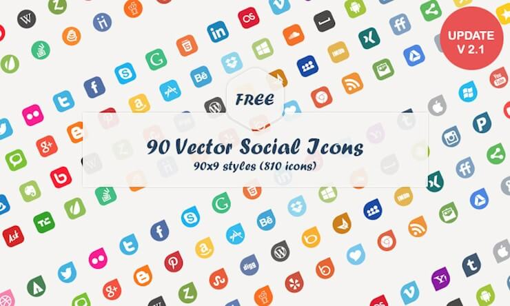 63 Fantastic Free Social Media Icon Sets For Your Website