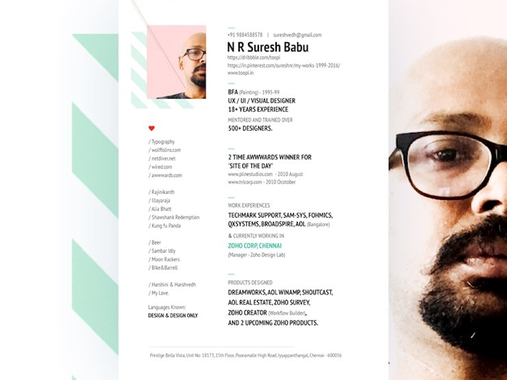 babu-resume-design