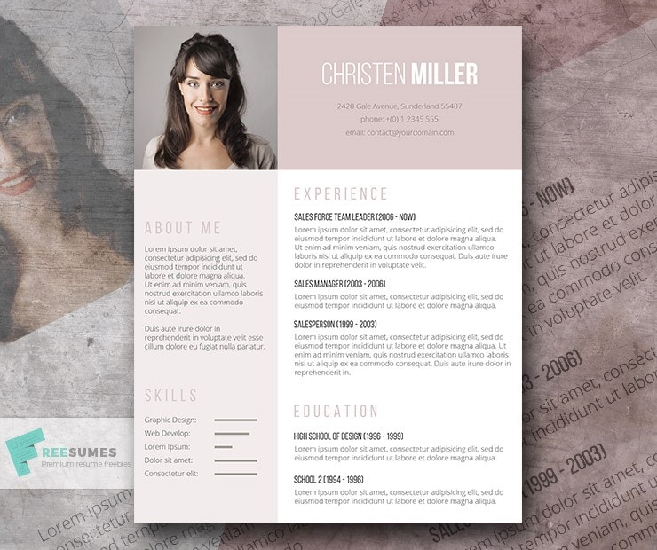 free-resume-template-ladies-vintage-rose